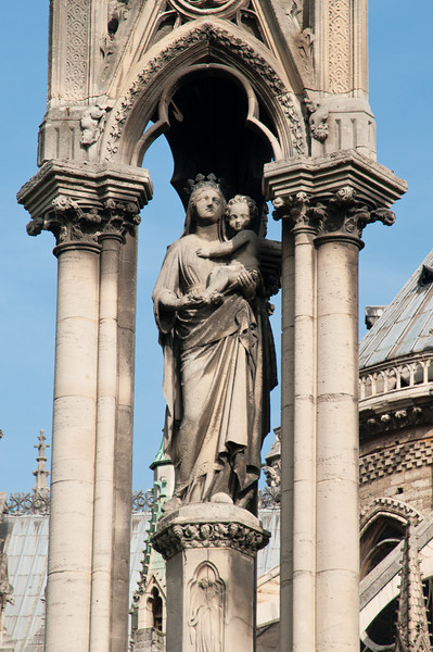 Statue in the Square Jean XXIII just to the east of the Cathedral of Notre Dame.