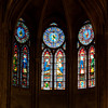 Stained glass window at Norte Dame Paris