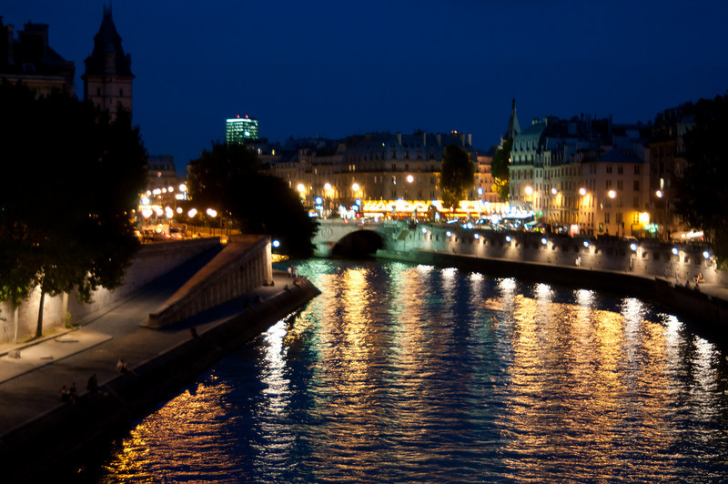 The Seine River at night.