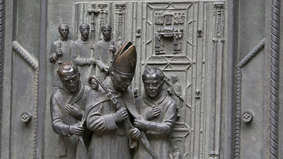 Bronze Bishop, St Vitus' Cathedral, Prague Castle, Praha