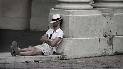 Tired Tourist, Prague Castle, Praha