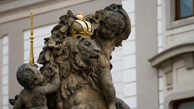Lion and Cherub, Prague Castle, Praha