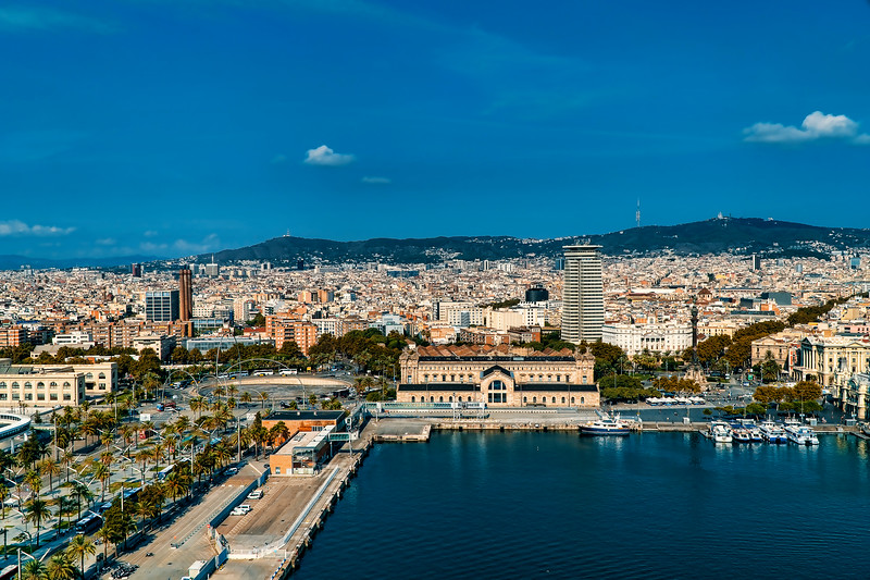 Barcelona from cable car