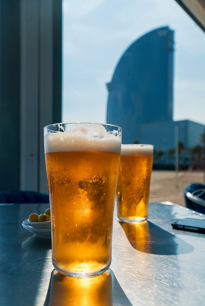 drinks on Playa de San Sebastian