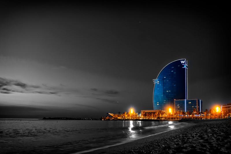 Sunrise and W Barcelona
