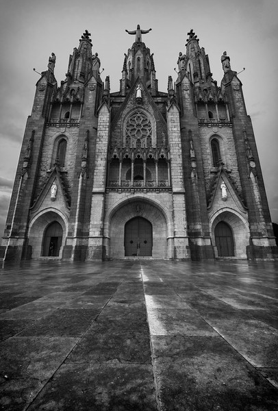 Sagrat Cor church at Tibidabo mountain