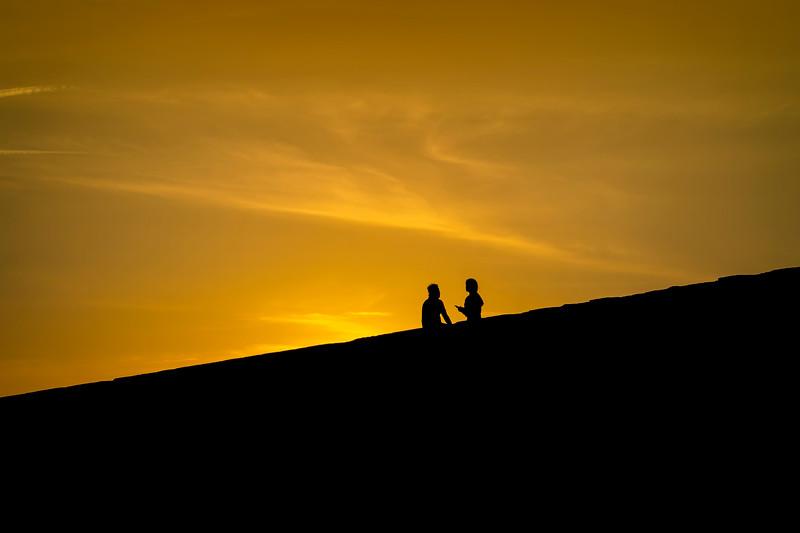 Montjuic silhouette