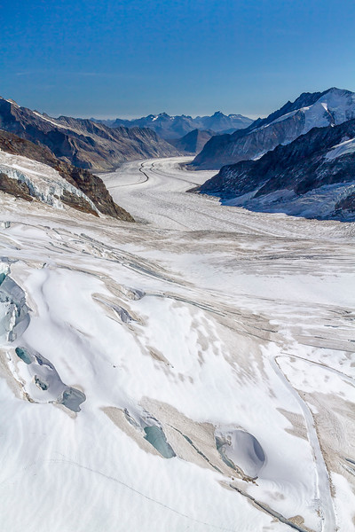 glacial valley seen from Jungfrau lookout