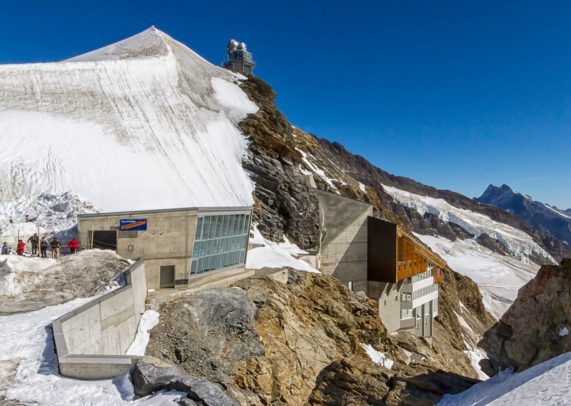 Outside at top of Jungfrau