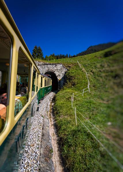 en route from Interlaken up to Jungfrau