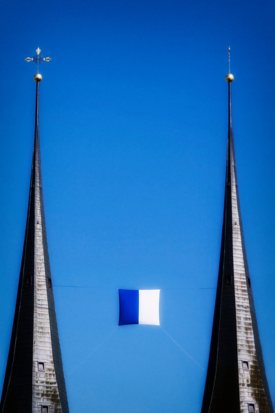 Hofkirche's iconic dual towers