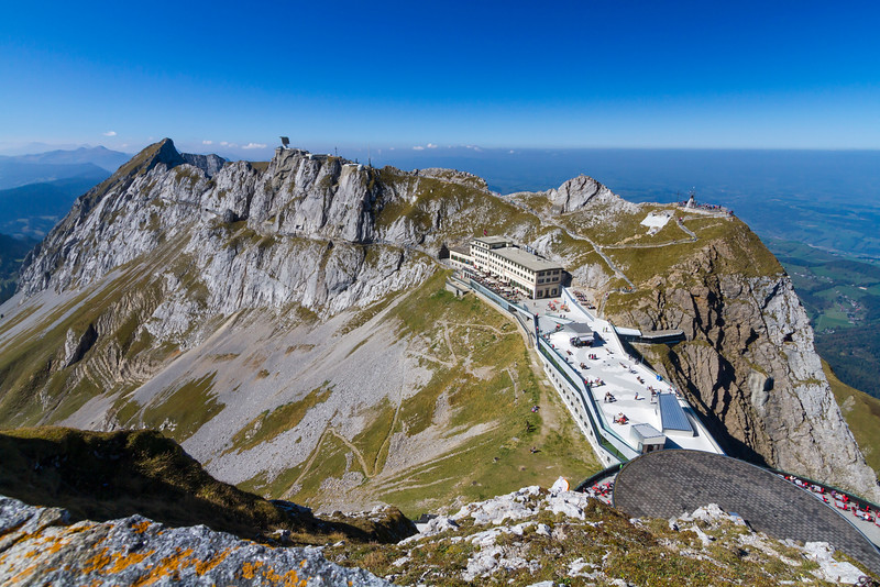Mt. Pilatus tourist area from above