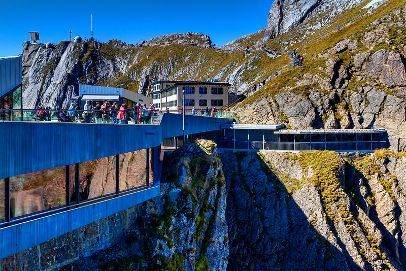 "cliff-built Mt. Pilatus facilities, ""Pilatus Kulm"""