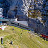 """Pilatus Kulm"" station; with world's steepest cogwheel train"