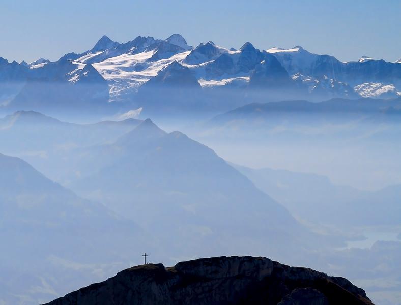view from Mt. Pilatus peak
