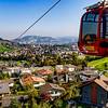 overlooking Lucerne's valley on the gondola up to Mt. Pilatus