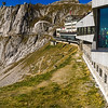 "restaurants and shops amazingly built into the peak, ""Pilatus Kulm"""