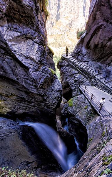 Trümmelbach Falls had an amazing set of pathways to navigate