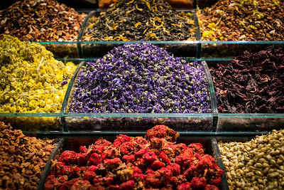 Dried flowers at the Spice Bazaar