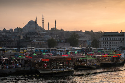 Sunset at the Süleymaniye mosque