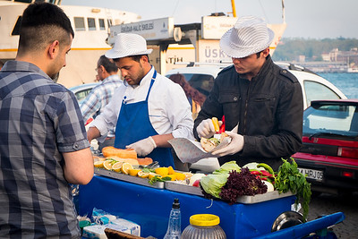 Street food at Galata Bridge