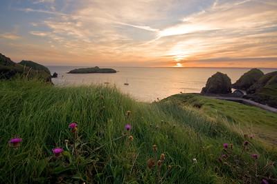 07CW012e Atlantic Ocean Cornwall England Sea Sunset
