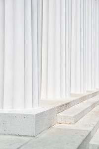 pillars at the theseus temple, vienna, austria