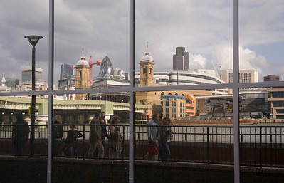 reflection of the london skyline
