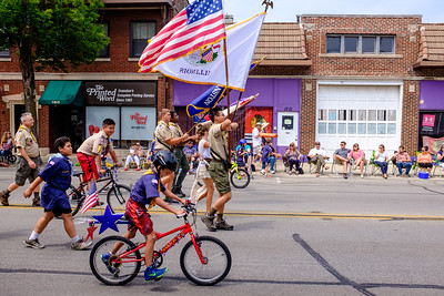 Evanston Boy Scouts march