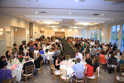 """The banquet room at the Indian Pond Country was filled for the 9th Annual """"Spring into Fashion"""" Show to benefit the Children's Bereavement Programs at Cranberry Hospice and Palliative Care."""