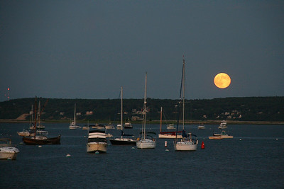 Harbor full Moon Rise 2