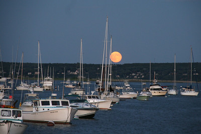 Harbor Full Moon Rise