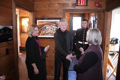 Artist Exposure Gallery Owner, Karen Fabian on the left.