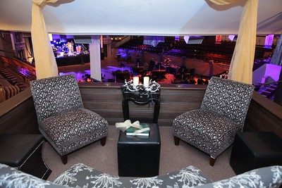 One of the several lounging areas above the Midnight Masquerade Club, (Memorial Hall), floor.