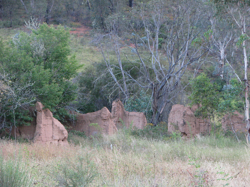 Remains of old Hotel at ravine