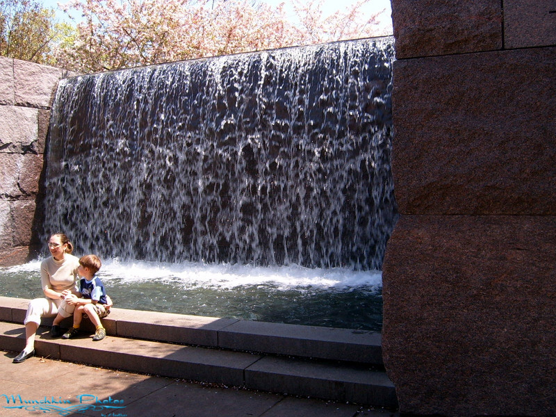 The first fountain you come to. The fountains are supposed to represent the state/feeling of the nation throughout FDR's presidency.