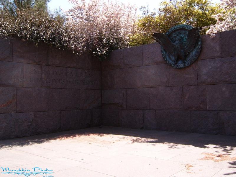 Beginning of FDR Memorial