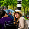 Girl at street cafe, Haarlem, Holland