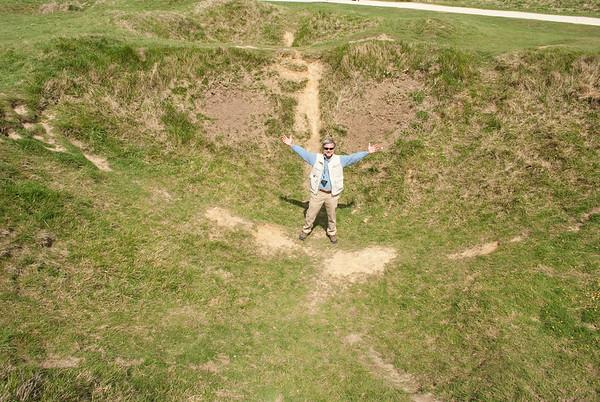 Bomb crater, La Pointe du Hoc, Normandy, France