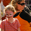Dutch girl, during Queen's Day celebration in Delft, Holland