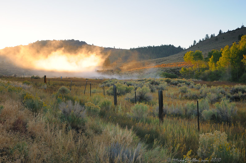 Hot Spring at Sunrise.
