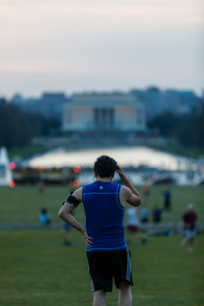 Runner in Front of the Lincoln Memorial
