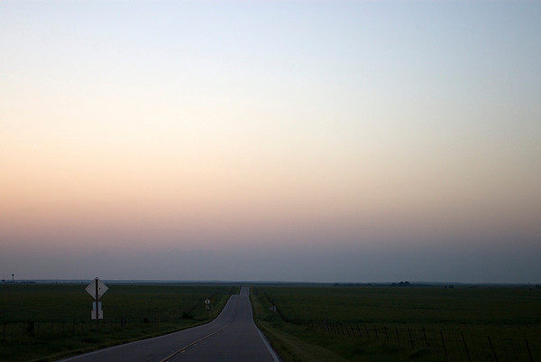 Flint Hills Sunrise quiet two lane