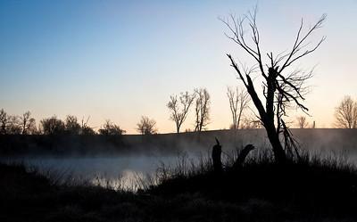 Flint Hills Farm -- Spring Sunrise