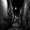 011417_Narrow Florence street, lit for night