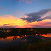 Sunset from Biolab Road (panorama)<br /> Merritt Island NWR, Florida<br /> December 2012