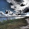 Side trail, big clouds<br /> Black Point Wildlife Drive<br /> Merritt Island NWR, Florida<br /> December 2012
