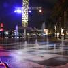 water feature<br /> Universal City Walk<br /> Orlando, Florida<br /> December 2012