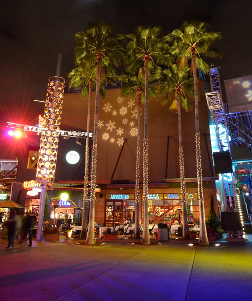 "How Universal City Walk does ""winter""<br /> Universal City Walk<br /> Orlando, Florida<br /> December 2012"