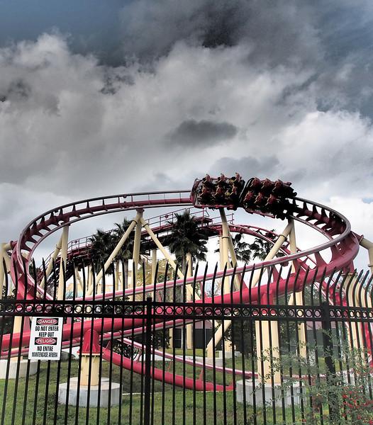 Rollercoaster<br /> Universal Studios<br /> Orlando, Florida<br /> December 2012